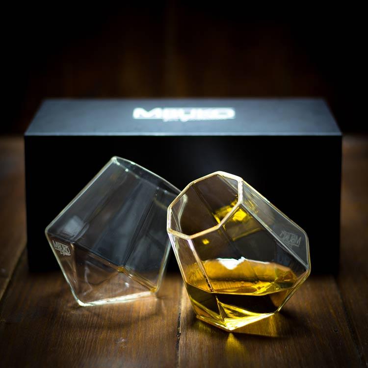 Fin Diamant Whiskyglas Set - ein ausgefallenes Geschenk! AA-15