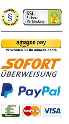 MBUKO Zahlungsmittel Amazon Paypal Sofortüberweisung